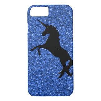 Unicorn auf funkelndem Glitterdruck iPhone 8/7 Hülle