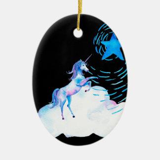 Unicorn black 1 keramik ornament