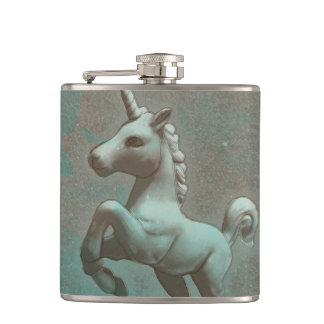 Unicorn-Flaschen-Vinyl eingewickelt (aquamariner Flachmann