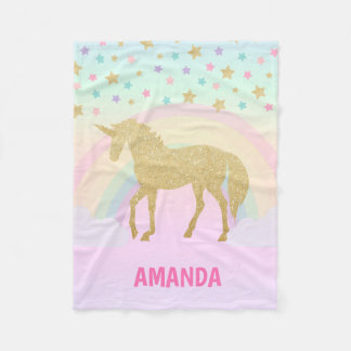 Unicorn-Fleece-Decke, klein Fleecedecke