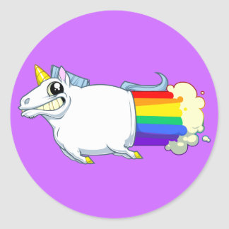 Unicorn-Furz-Aufkleber