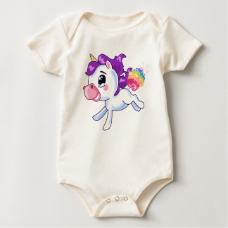 Unicorn-Furzen Baby Strampler