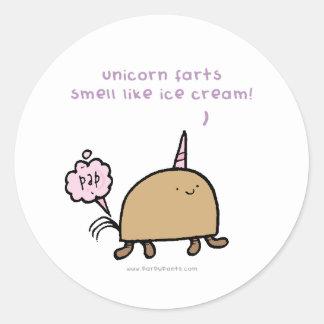 Unicorn-Furzgeruch mögen Eiscreme Aufkleber