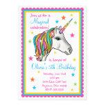 Unicorn-Geburtstags-Party Einladungen