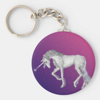 Unicorn-Glitzern Schlüsselanhänger