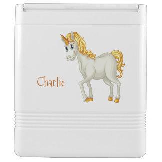 Unicorn-individueller Name cooler Igloo Kühlbox