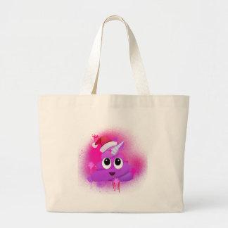 Unicorn kacken Spray-Farbe Sankt Emoji Jumbo Stoffbeutel