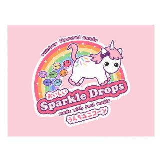 Unicorn kacken Süßigkeit Postkarte