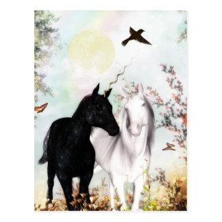 Unicorn-Liebepostkarte Postkarte