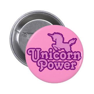 Unicorn-Power! Spaß-Neuheits-Knöpfe Runder Button 5,7 Cm