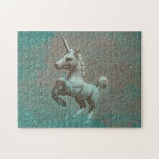 Unicorn-Puzzle mit Kasten (aquamariner Stahl) Puzzle