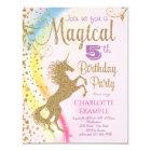 Unicorn-Regenbogen-magische Geburtstags-Party Karte