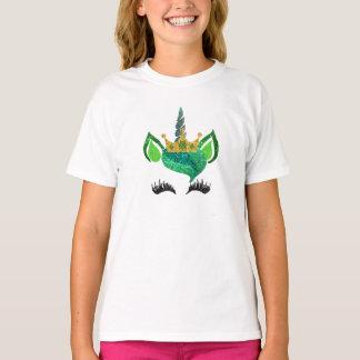 Unicorn-Shirt St. Pattys Glitzer T-Shirt