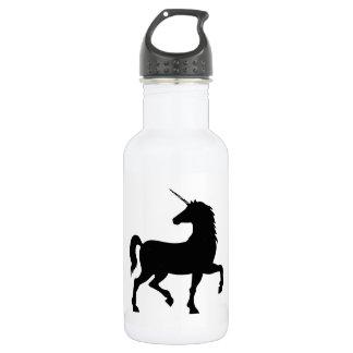 Unicorn-Silhouette Edelstahlflasche