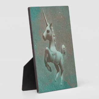 Unicorn-Tischplatte-Plakette 5.25in (aquamariner Fotoplatte
