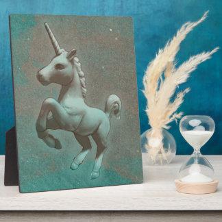 Unicorn-Tischplatte-Plakette 8x10 (aquamariner Fotoplatte