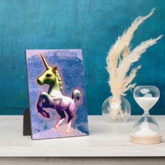 Unicorn-Tischplatte-Plaketten-12x18 (gebranntes Fotoplatte