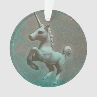 Unicorn-Verzierung - Kreis-Band (aquamariner Ornament