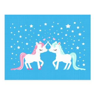 Unicorns in Liebe Postkarte
