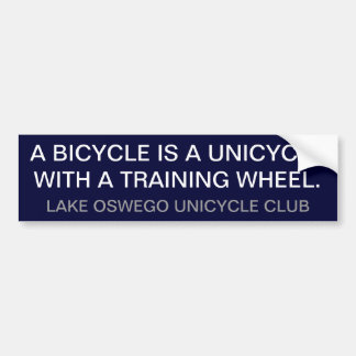 Unicycle Autoaufkleber