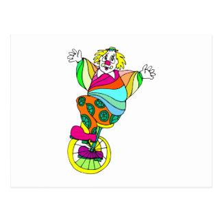 Unicycle-Clown Postkarte
