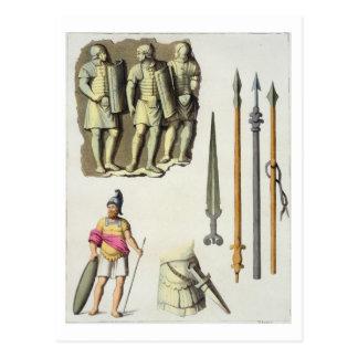 Uniform und Waffen der römischen Legionaries, von Postkarte