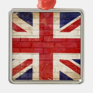 unionflag silbernes ornament