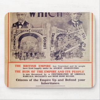 Unionist-Party-Plakat für britischen General Mauspad