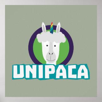 Unipaca Einhorn-Alpaka Z67aj Poster