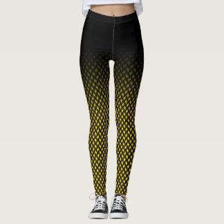 uniq gelbe quadratische Mustergamaschen Leggings