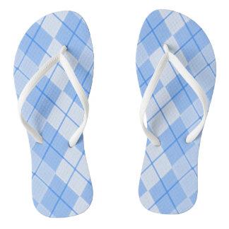 Unisex-Spring-Blue-Argyle-II_ (C) Multi-Arten Flip Flops
