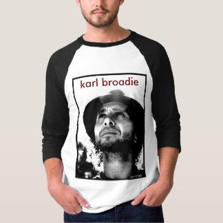 Unisexbaseball - Porträt Karls Broadie T-Shirt