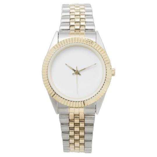 Custom Zweifarbige Unisex Armbanduhr
