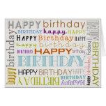 Unisexmehrfarbenalles- Gute zum Geburtstagtext