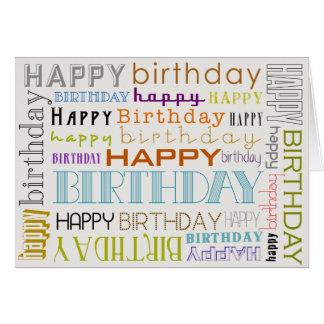 Unisexmehrfarbenalles- Gute zum Geburtstagtext Karte