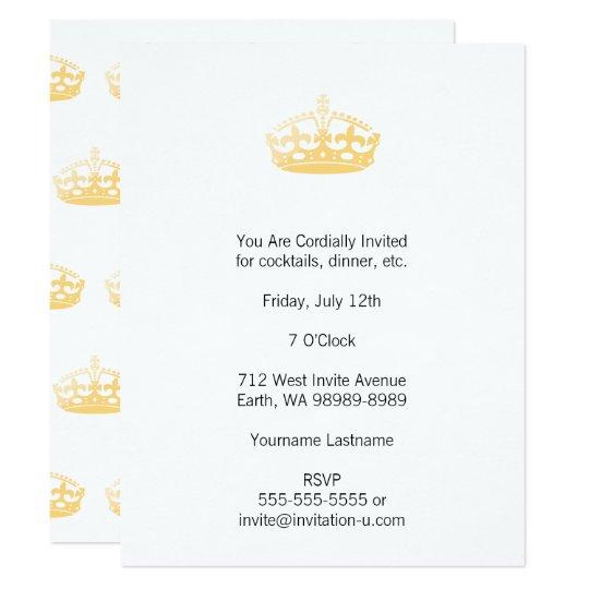 Unisexpalast Salon Jubiläum Krone 10,8 X 14 Cm Einladungskarte, Einladung