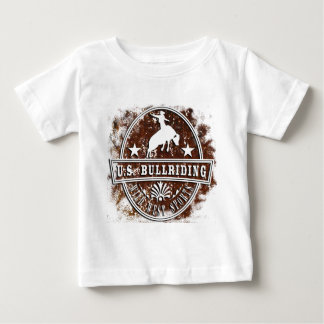 United states bull riding rodeo wild west traditon baby t-shirt