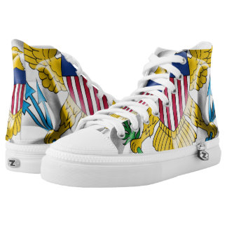 United- States Virgin Islandsflaggen-Turnschuhe Hoch-geschnittene Sneaker