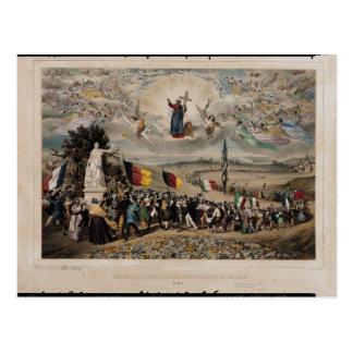 Universelle demokratische und Sozialrepublik, 1848 Postkarte