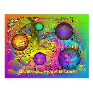 Universelle Friedens-u. Liebe-Feiertags-Grüße Postkarte