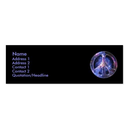 Universelle FriedensVisitenkarte Visitenkarten Vorlage