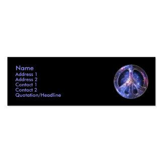 Universelle FriedensVisitenkarte Mini-Visitenkarten