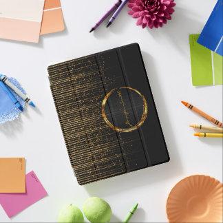 Universelle Goldstern-Licht-Dusche und schwarzer iPad Smart Cover