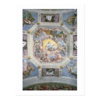 Universelle Harmonie oder göttliche Liebe, vom Postkarte