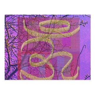Universelles heilendes Zeichen OM - Silk Schirm V5 Postkarte