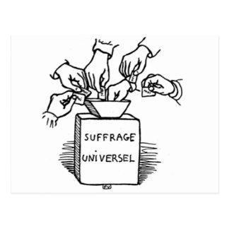 Universelles Stimmrecht durch Felix Vallotton Postkarte