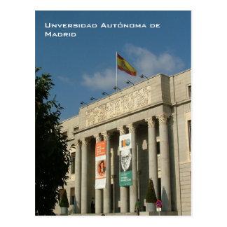 Universidad Autonoma De Madrid Postkarte