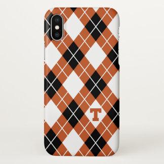 Universität des Rauten-Musters Texas | iPhone X Hülle