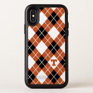 Universität des Rauten-Musters Texas | OtterBox Symmetry iPhone X Hülle