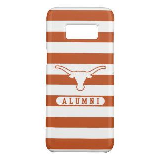 Universität des Schüler-gestreiften Musters Texas Case-Mate Samsung Galaxy S8 Hülle